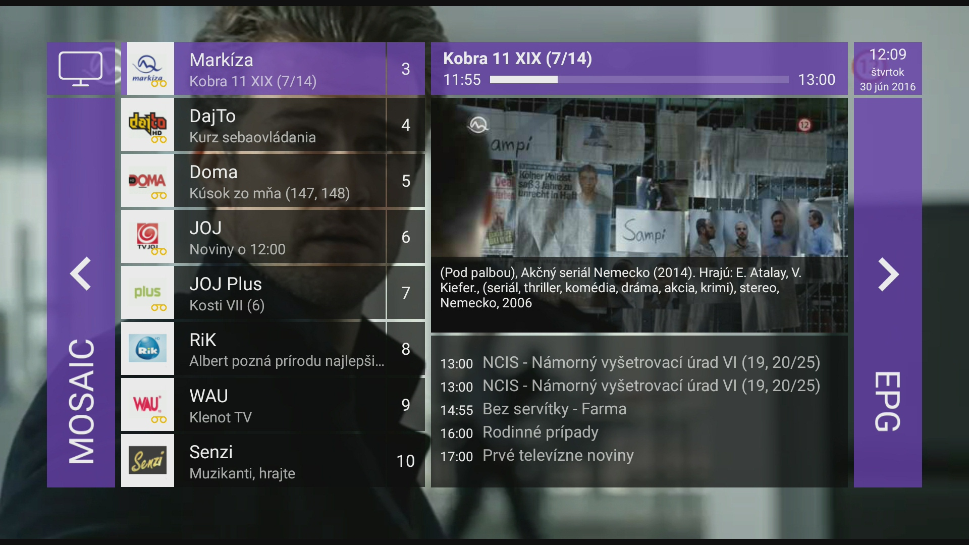 EPG screenshot